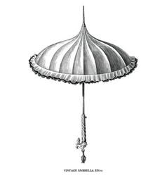 antique engraving vintage style umbrella black vector image