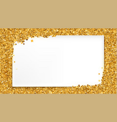 Background with gold glitter and place for text vector