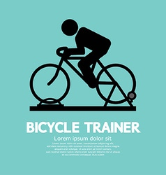 Bicycle trainer vector image