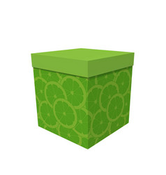 box with a surprise on his birthday vector image
