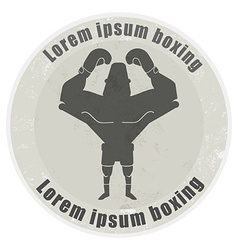 Boxer stone emblem vector image