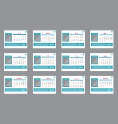 calendar 2019 template vector image