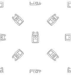 camp backpack icon outline style vector image