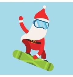 Cartoon extreme Santa snowboarder winter sport vector image