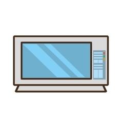 Cartoon microwave domestic appliance vector