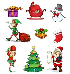 Christmas signs vector