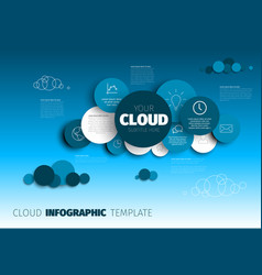 Cloud - infographic template vector