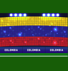 colombia soccer or football stadium background vector image
