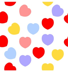 Colorful heart texture isolated on white vector image