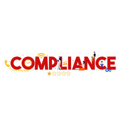 Compliance to regulation standard business quality vector
