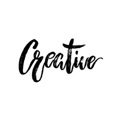 creative word hand brushed ink lettering vector image