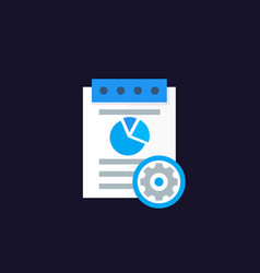 Data processing analytics icon vector