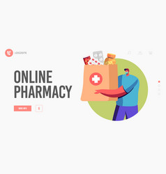 Drugs delivery service online pharmacy drugstore vector