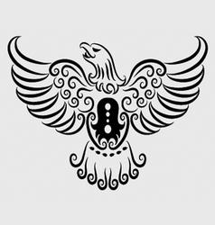 Eagle ornament vector