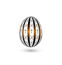 easter egg on a white background glow light vector image