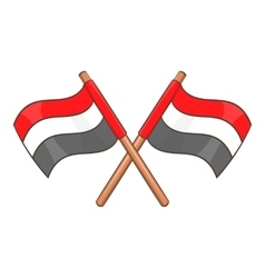Egypt flags icon cartoon style vector image