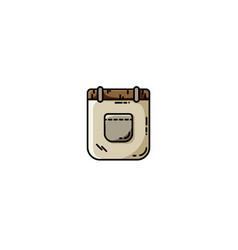 folded pants flat icon vector image