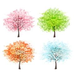 Four seasons - spring summer autumn winter Art vector