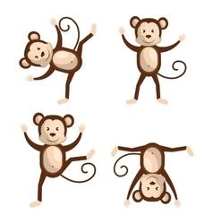Funny monkey design vector