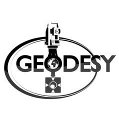Geodesy symbol with tool vector