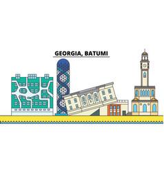 Georgia batumi city skyline architecture vector