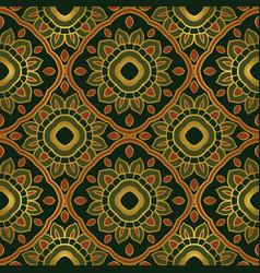 Green floral ornament vector