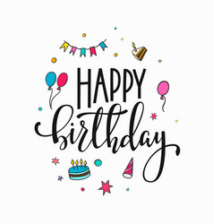 Happy birthday lettering typography vector