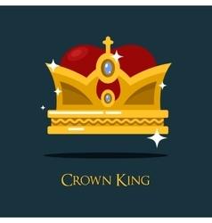 Heraldic king or queen majesty golden crown vector image