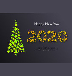 holiday gift card happy new year 2020 vector image