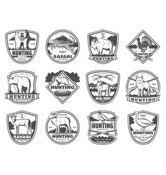 hunting sport club and adventure icons vector image