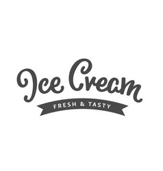 Ice cream sign vector
