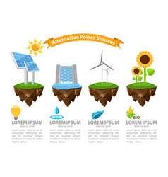 Infographic alternative power sources the energy vector