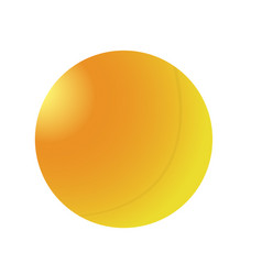 isolated ping pong ball vector image