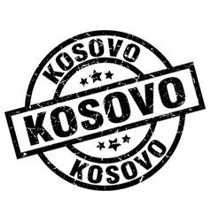 Kosovo black round grunge stamp vector