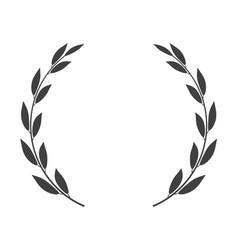 Laurel wreath isolated icon vector