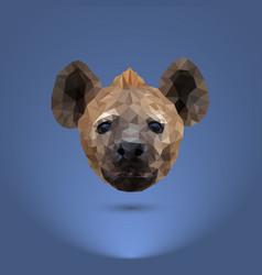 Low-poly predator head a hyena suitable vector