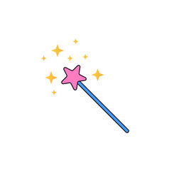 magic wand cartoon vector image