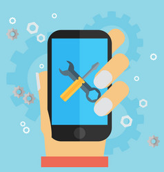 Mobile repair and development vector