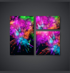 multicolored explosive clouds of powder dye vector image