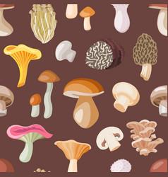 mushroom natural fungus and mushrooming vector image