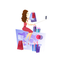 online shopping website design element template vector image