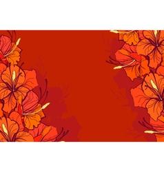 orange lilies vector image