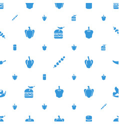 Pepper icons pattern seamless white background vector