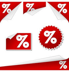 percentage labels vector image