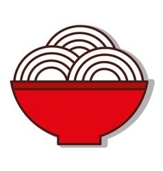 Plate of spaghetti icon vector