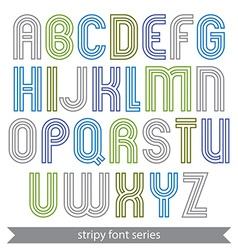 Poster elegant stripy typescript best for poster vector image