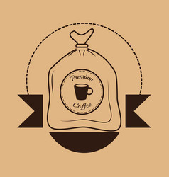 Premium coffee sac poster vector