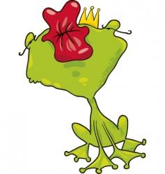 Prince frog kiss vector