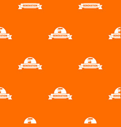 reconstruction pattern orange vector image