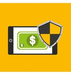 savings security online flat icons vector image